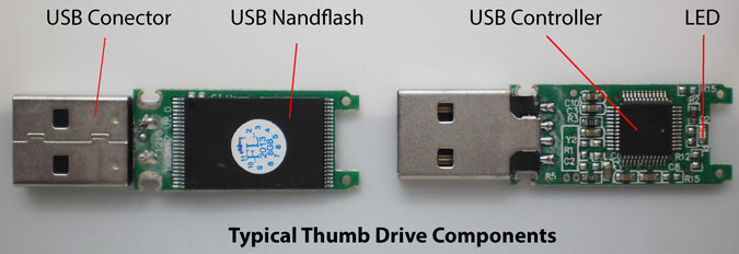 usb thumb drive components