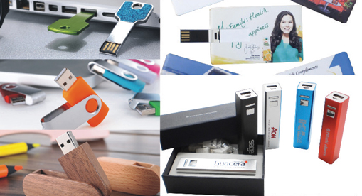 Promotional flash drive banner