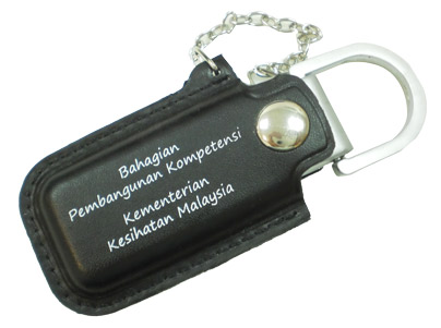 Leather flash drive with chain (PB3088)