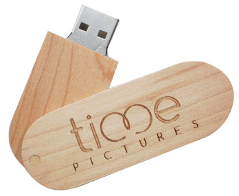 Swivel wooden flash drive (PB3011)