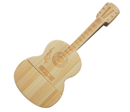 Guitar Shape wooden usb