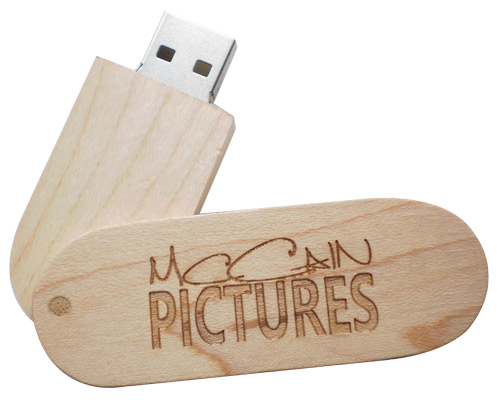 wooden pen drive with laser engraving branding