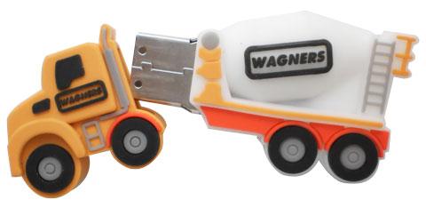 3D truck shaped customized thumb drive