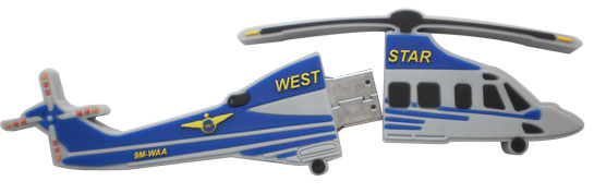 Helicopter shape custom made pen drive