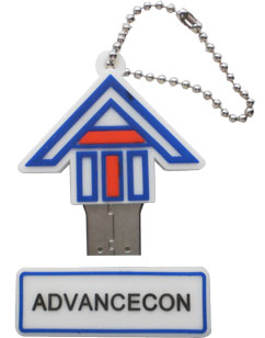 House shape logo customized usb drive